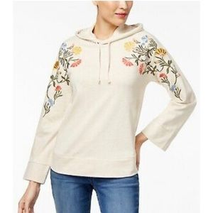 Style & co 3/4 Embroidered Hoodie (new)